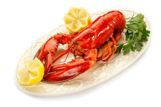 boiled lobster-aragosta bollita