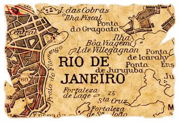 Rio de Janeiro old map