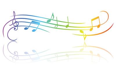 Colourful music theme