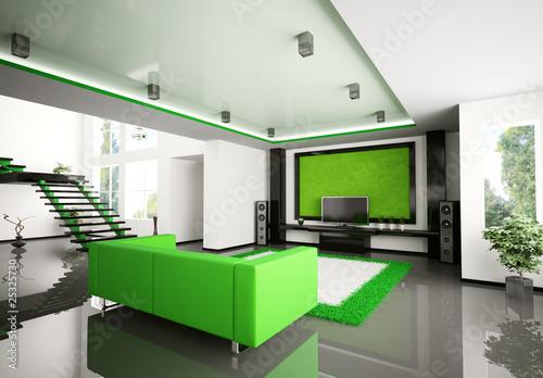 Modern wohnzimmer mit treppe 3d stockfotos und lizenzfreie bilder auf bild 25325730 - Wohnzimmer bild modern ...