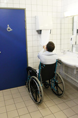 Handicap toilette