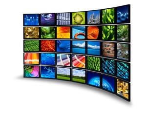 Multimedia monitor wall