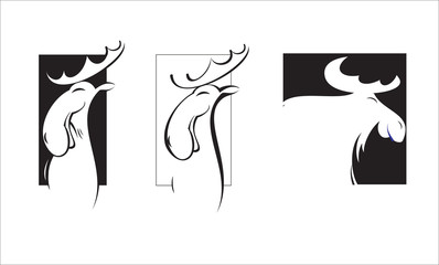 Vector logo of elk