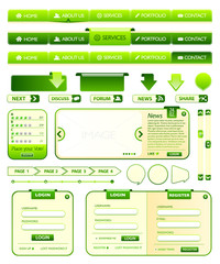 Webdesign elements collection 1 with green color