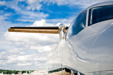 aircraft and airport abstract with strong saturated colors