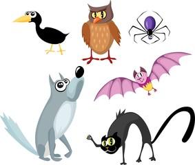 animals halloween set