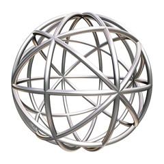 metallic geometric object