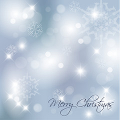 Blue Vector Christmas background