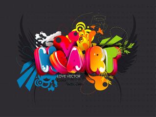 Heart word vector