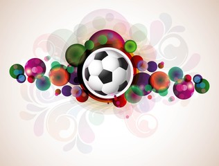abstract colorful footballs vector design