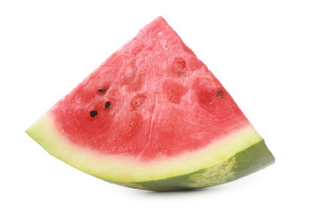 Fresh segment of a watermelon