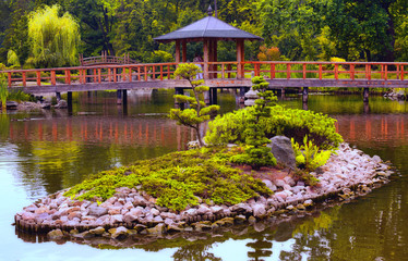 Japanese garden in Wroclaw, Poland