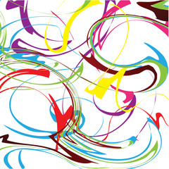 Colour abstract stains. Vector illustration