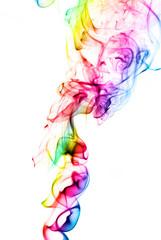 multicolored smoke texture over white