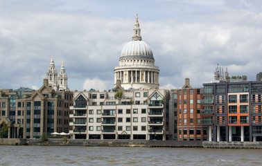 St Paul's Cathedral from the River Thames
