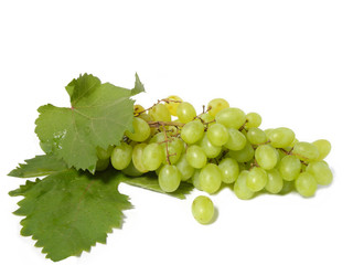bunch of grapes isolated on white background