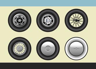 Retro car wheels