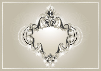 Vintage ornament for banner.Background,