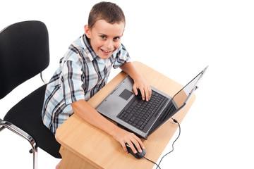 Modern kid at the laptop