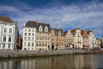 Ghent waterfront in Belgium