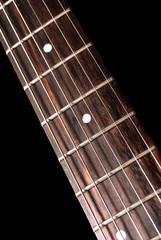 electric guitar fretboard