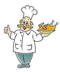 Funny cook.