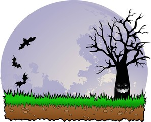 the Halloween wood vector designs