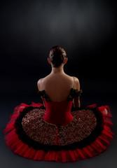 back of a ballerina