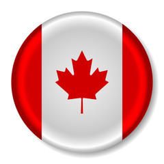 3D Glossy Canada Flag Button
