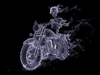Tuinposter Vlam Ghost biker
