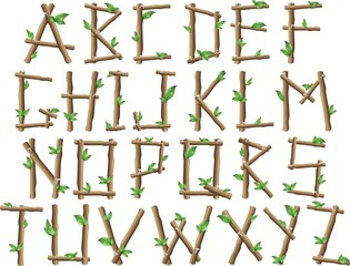 Alfabeto Albero-Tree Alphabet-Vector