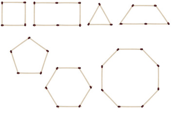 Geometrical Shapes made with Matches