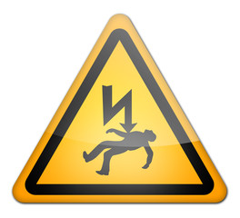 "Hazard Sign ""Danger - High Voltage"""