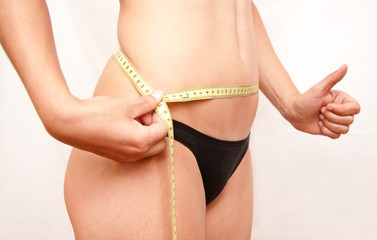 mujer a dieta positiva
