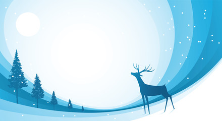 Snow Reindeer Blue