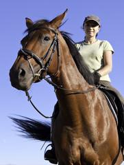 Mädchen auf dem Pferd