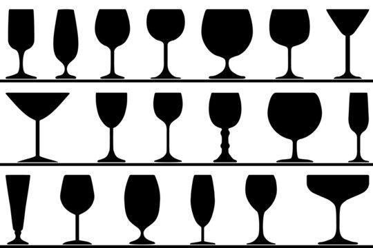 19 verschiedene Gläser