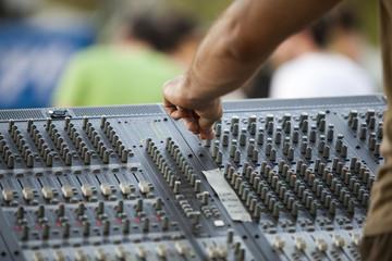 adjusting of audio mixer