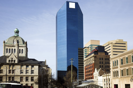 Buildings in Lexington - old and new.
