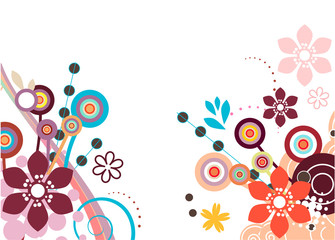 Two floral design elements