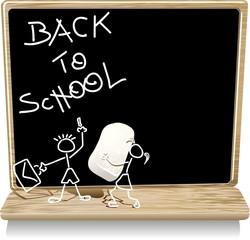 Scuola Lavagna e Gesso-Back to School-Vector