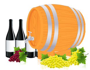 Barrel with wine