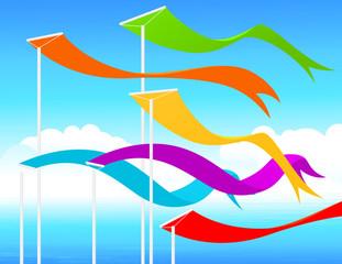 Fluttering flags