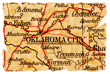 Oklahoma City old map