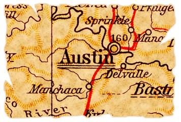Austin old map