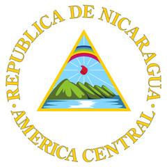 Fototapete - Nicaragua Coat of Arms
