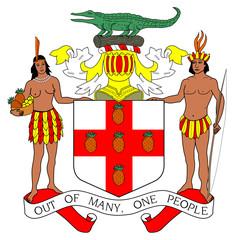 Fototapete - Jamaica Coat of Arms