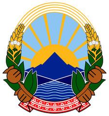 Fototapete - Macedonia Coat of Arms