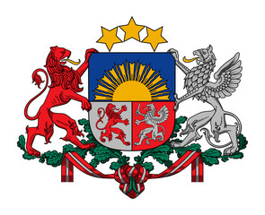 Wall Mural - Latvia Coat of Arms
