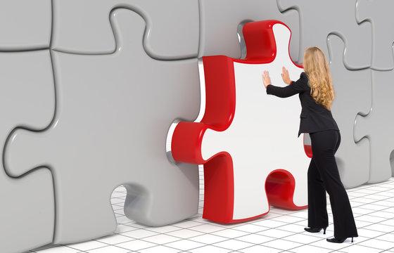 The last puzzle piece - Business concept
